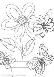 colouring pictures print colour flowers butterflies
