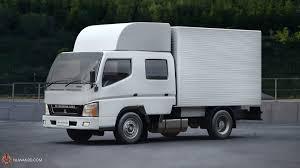 mitsubishi truck canter mitsubishi fuso crew cab 3d cgtrader