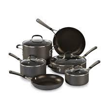 Calphalon Simply Calphalon Sa10h 10 Piece Nonstick Cookware Set In Gray
