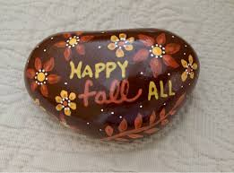 give thanks painted rock thanksgiving decoration harvest
