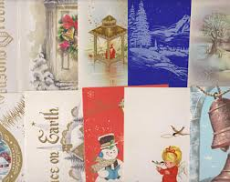 Old Christmas Cards Crafts - old christmas card etsy