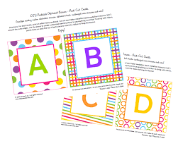 get crafty with nicole free printable abc party banner free