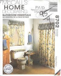 Home Essentials Curtains Oop Bathroom Essentials Sewing Pattern Mccall U0027s Simplicity Tub