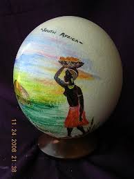 painted ostrich eggs vintage south souvenir painted ostrich egg from