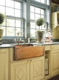 Sunflower  Offset DoubleBowl Copper Farmhouse Sink - Copper farmhouse kitchen sink