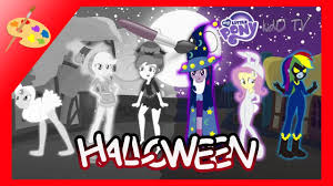 mlp halloween coloring pages equestria girls my little pony