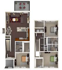 Types Of Apartment Layouts Student Apartment Floorplans The Retreat