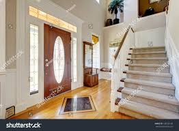 american home interior classic american home entrance interior staircase stock photo