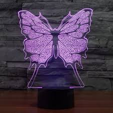 high quality 3d illusion lights led butterfly home decor children
