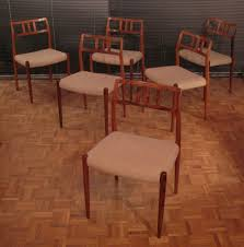 set of 6 niels moller model 70 rosewood dining chairs 61911
