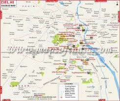 touristic map of travel to delhi tourism destinations hotels transport