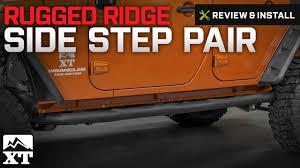 mopar side steps for jeep wrangler unlimited jeep wrangler rugged ridge side pair 2007 2017 jk review