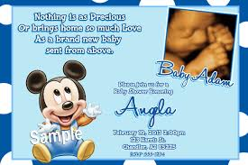 baby mickey mouse baby shower invitations theruntime com