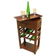 whitney rustic reclaimed wood wine rack liquor storage cabinet