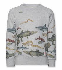 fish sweater c neck sweater fish