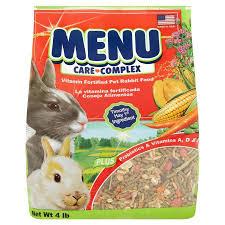rabbit food menu care complex vitamin fortified pet rabbit food 4 lb
