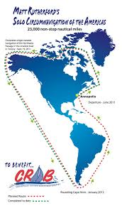 Cape Horn Map Route Map Solo Around The Americas Under Sail