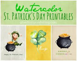 free watercolor st patrick u0027s day printables