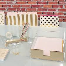 kate spade desk clock leo bella kate spade gold acrylic letter tray