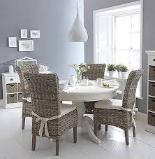 shabby chic round dining table shabby chic white round dining table a wicker chairs set bella