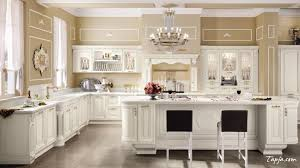 luxury black and white kitchen cabinet design with thick marble