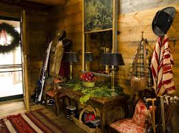 rustic christmas decorations at amanda brooks u0027s mountain cabin vogue