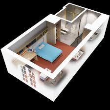 one bedroom house plan one bedroom house plans in 3d awesome brilliant ideas 40 more 1