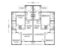 Multi Family Home Floor Plans Single Level Duplex Floor Plans 12 Photos Of The Duplex Floor