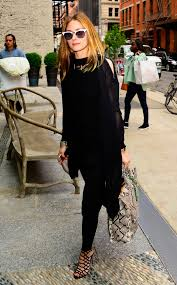 olivia palermo makes basic black look chicer than anything