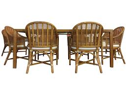 mcguire bamboo u0026 rattan dining set chairish