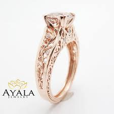 morganite engagement ring gold vintage engagement ring 14k gold morganite engagement ring