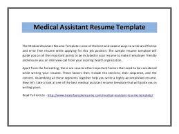 sample medical assistant resume 16 free medical assistant resume