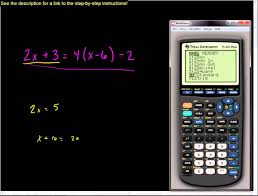 solving linear equations using the ti 83 or ti 84 series calculator you