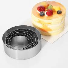 small cake mousse cake rings stainless steel 6pcs set small cake mold 6