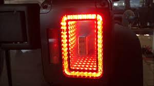 jeep jk led tail light bulb 2007 2017 jeep wrangler led tail light lamp black hole