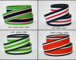 navy and white striped ribbon 7 8 striped grosgrain ribbon by the yard surfboard stripe