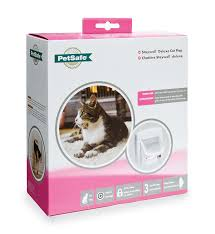 petsafe staywell deluxe infra red cat flap white amazon co uk