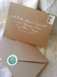 succulent wedding invitation in kraft pouch debi sementelli