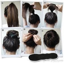 hair bun clip 2018 sponge foam bun clip maker former foam twist hair styling