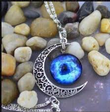 blue moon necklace images Jewels moon crescent moon crescent silver necklace beautiful jpg