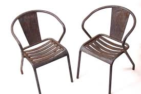 Tolix Bistro Chair Vintage Ft5 Bistro Chairs By Xavier Pauchard For Tolix Set