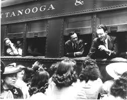 Tennessee why do people travel images Men leaving for world war ii leaning out of train windows at union jpg
