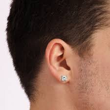 real diamond earrings for men earring sizing guide at my wedding ring