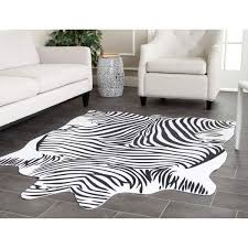 Black And White Zebra Area Rug Black And White Zebra Rug Popular As Living Room Rugs With Indoor