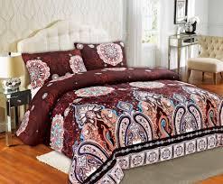 Burgundy Duvet Sets Tache Burgundy Palace Fancy Patterned Rustic Paisley Floral Duvet