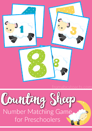 counting sheep 1 10 number matching preschoolers abcs