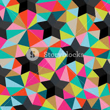 Seamless Backdrop Vector Background Of Repeating Geometric Stars And Triangles