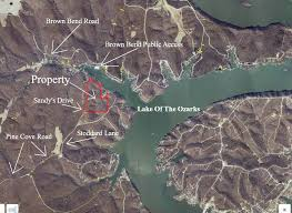 cove lake of the ozarks map instant acres parcels 41 acres with lake frontage on the lake