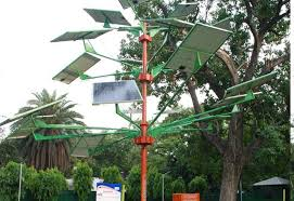 india s new solar power tree can light 5 homes in just 4 sq ft of