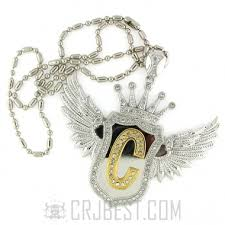 custom silver pendants premium hip hop jewelry pec18 01 custom initial silver wing